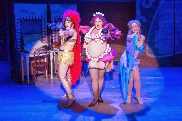 Donna Migliaccio, Tracy Olivera and Sandy Bainum as Mazeppa, Electra and Tessie Tura in Signature Theatre's 2013 production of GYPSY