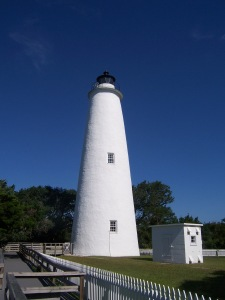 The plump and comely Ocracoke Lighthouse.