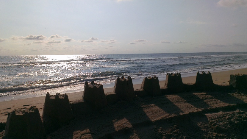 Sunrise with Sandcastle